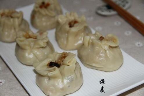 饮食文化:新手都会做的香菇猪肉糯米烧麦,自己做更放心